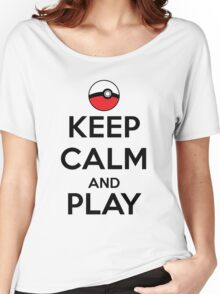 Keep calm and play!! Color Women's Relaxed Fit T-Shirt