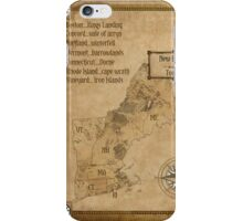 map of new england as westeros iPhone Case/Skin