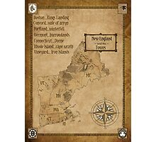 map of new england as westeros Photographic Print