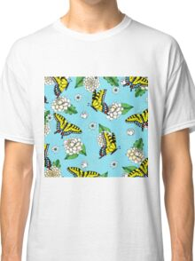 Swallowtail and Floral Pattern Classic T-Shirt