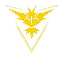 Pokemon Go Team Instinct Logo Photographic Print