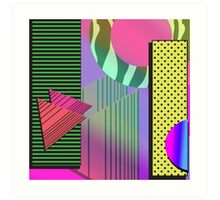 Just Can't Get Enough Eighties Retro Patterns Art Print