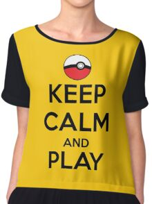 Keep calm and play!! Color Chiffon Top