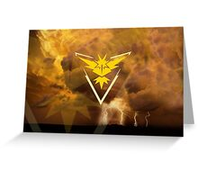 Pokemon Go - Team Instinct  Greeting Card