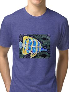 Bonzo the Angelfish  Tri-blend T-Shirt
