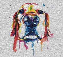 Dogie Abstract Colour Art One Piece - Long Sleeve