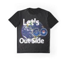 Let's Go Outside Pokemon Go Graphic T-Shirt