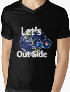 Let's Go Outside Pokemon Go Mens V-Neck T-Shirt