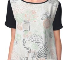 Mason Jar Garden Flowers Chiffon Top