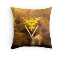 Pokemon Go - Team Instinct  Throw Pillow