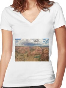 Canyon De Chelly, Arizona. Women's Fitted V-Neck T-Shirt