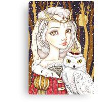 Winter Bride Canvas Print
