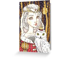 Winter Bride Greeting Card