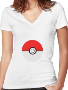 Pokemon Ball Women's Fitted V-Neck T-Shirt