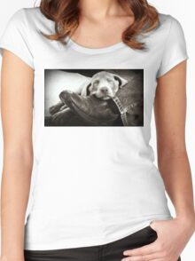 "OUR SILVER LAB ""GRACIE"" Women's Fitted Scoop T-Shirt"