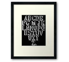 ABC HI - WHITE Framed Print