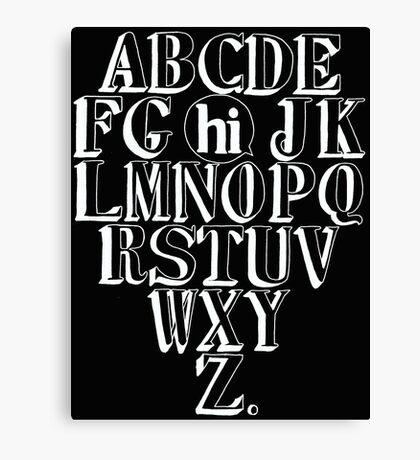 ABC HI - WHITE Canvas Print