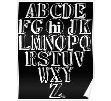 ABC HI - WHITE Poster