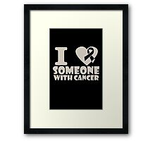 breast cancer I heart someone with cancer support Framed Print