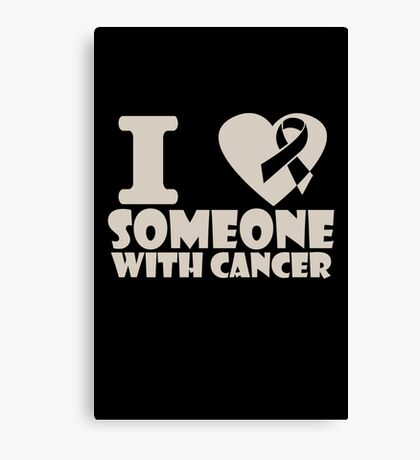 breast cancer I heart someone with cancer support Canvas Print