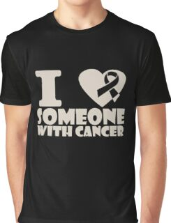 breast cancer I heart someone with cancer support Graphic T-Shirt
