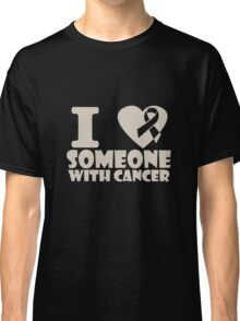 breast cancer I heart someone with cancer support Classic T-Shirt