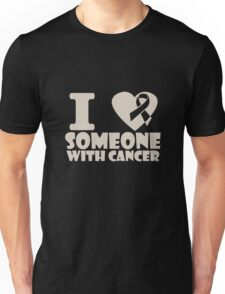 breast cancer I heart someone with cancer support Unisex T-Shirt