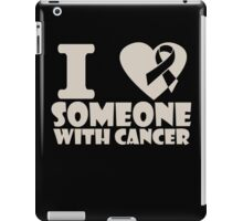 breast cancer I heart someone with cancer support iPad Case/Skin