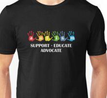 Autism Support Educate Advocate Unisex T-Shirt