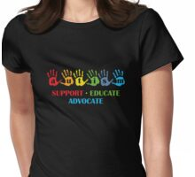 Autism Support Educate Advocate Womens Fitted T-Shirt