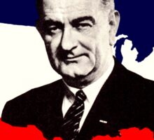 1964 LBJ for the USA Sticker
