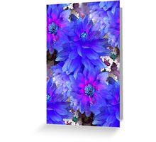 Blue Dahlias Greeting Card