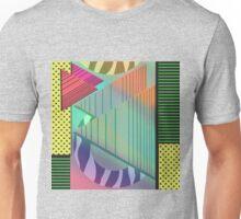 Lost in the Eighties Retro New Wave Geometric Design Unisex T-Shirt