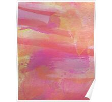 Pink Red Orange Abstract Watercolor Poster