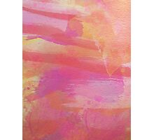 Pink Red Orange Abstract Watercolor Photographic Print