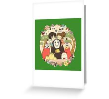 collage ghibli familly Greeting Card