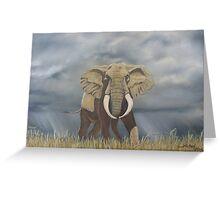 Masai Mara Bull Elephant Greeting Card