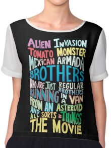 Rick and Morty Two Brothers Handlettered Quote Chiffon Top