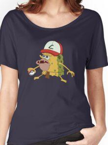 Spongegar Ash Hat Poke Trainer Funny Meme Women's Relaxed Fit T-Shirt