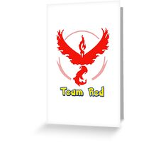 Team Red Valor Pokemon Go Greeting Card