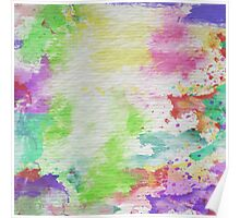 Abstract Painting Watercolor Splatter Pattern Poster