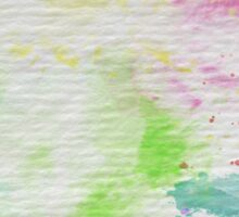 Abstract Painting Watercolor Splatter Pattern Sticker