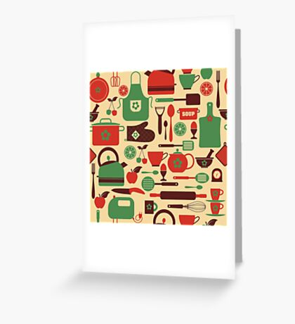 COOKING Greeting Card