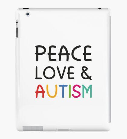 Peace Love & Autism iPad Case/Skin