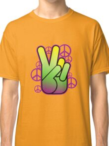 Bright Neon Peace Sign Classic T-Shirt