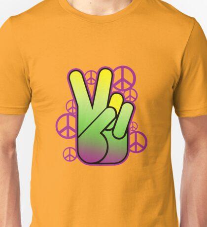 Bright Neon Peace Sign Unisex T-Shirt
