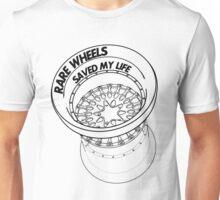 Rare Wheels Saved My Life! (Black) Unisex T-Shirt