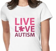 Live Love Autism Womens Fitted T-Shirt