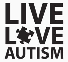 Live Love Autism Kids Tee