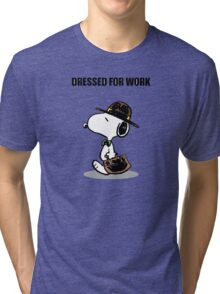 dressed for work snoopy Tri-blend T-Shirt